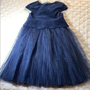 Other - Jacadi Paris blue velvet and tulle dress.